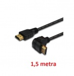 Kabel HDMI kątowy v1.4 Ethernet 3D Dolby TrueHD 24k Gold 1,5m audio video